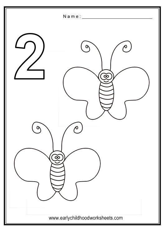 Number 2 Worksheets For Preschoolers Worksheets For All