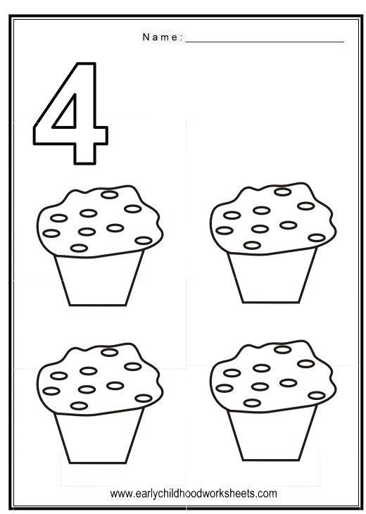 Number 4 Worksheet Preschool Worksheets For All