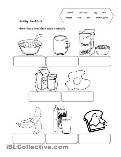 Number Names Worksheets » Healthy Food Worksheets For Kindergarten