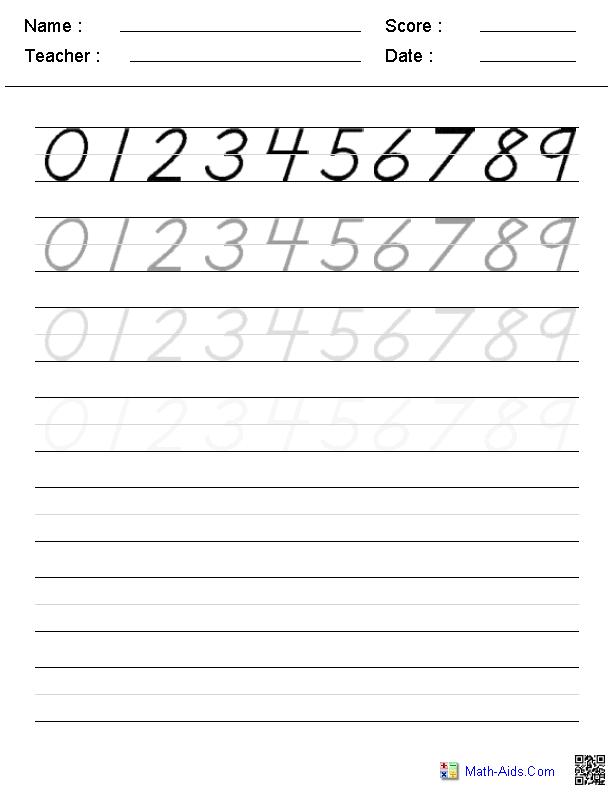 Number Templates For Kindergarten The Best Worksheets Image
