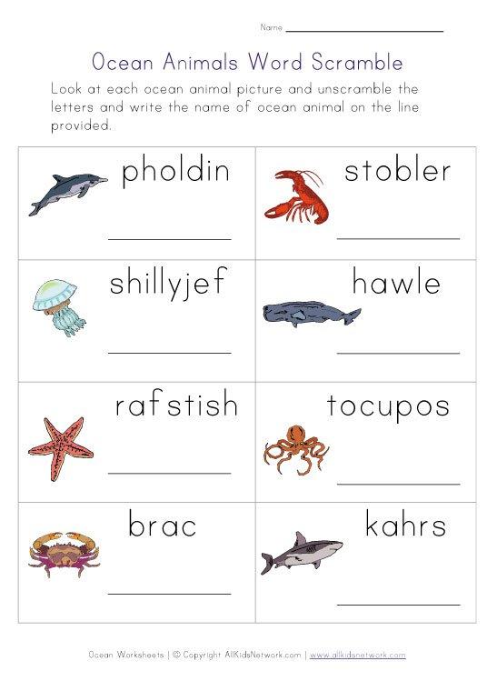 Oceans Worksheets For Kindergarten Worksheets For All