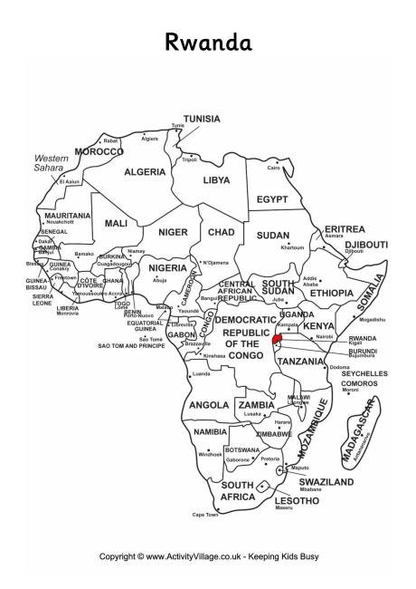 On Map Of Africa