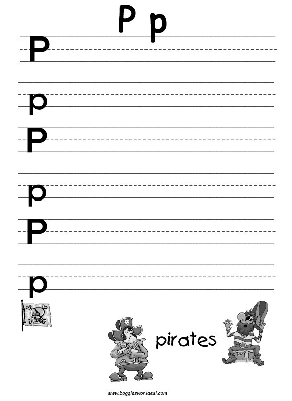 P Alphabet Worksheets