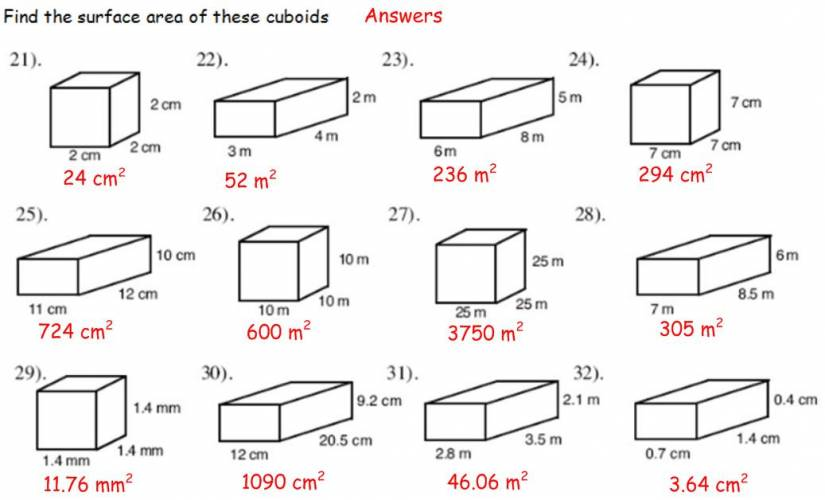 Perimeter Area And Volume Worksheets Worksheets For All