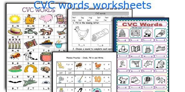 Phonics Worksheets Cvc Words Worksheets For All