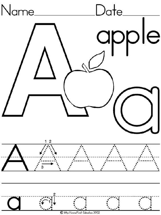 Preschool Letter A Worksheets Worksheets For All