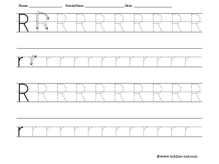 Preschool Letter R Worksheets Worksheets For All