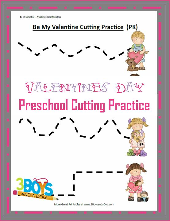 Preschool Valentine Worksheets Valentine Preschool Cutting
