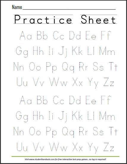 Print Abcs Dashed Handwriting Practice Worksheet …