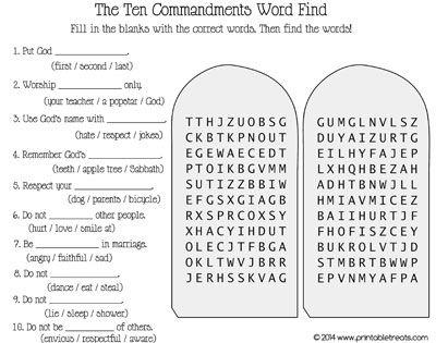 Printable 10 Commandments 0a67a420fc36645462f9b1a034f8aab5 Ten