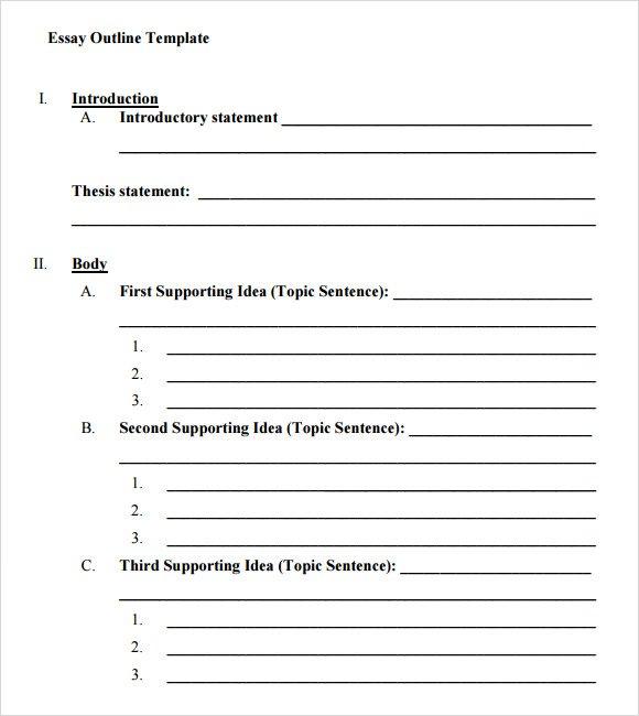 Printable 5 Paragraph Essay Outline