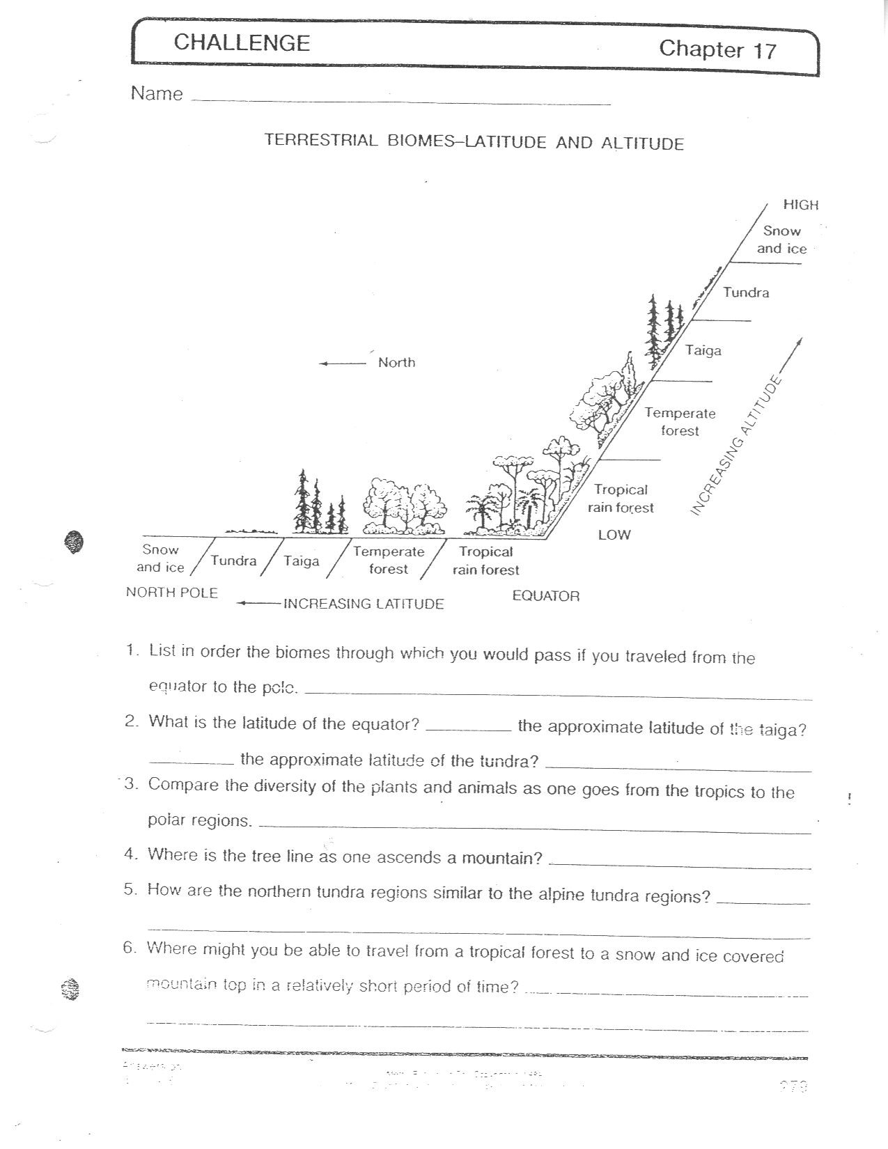 Printable Biome Worksheets The Best Worksheets Image Collection