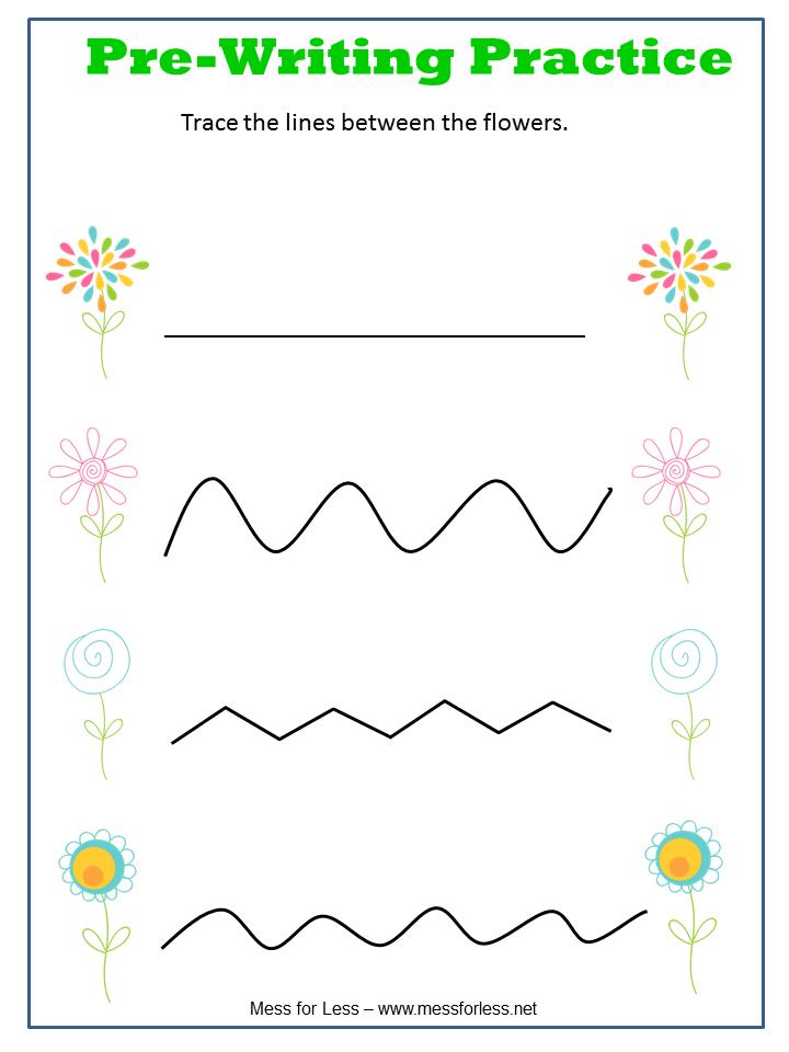 Printable Pre Writing Worksheets For Preschool Spring Printables