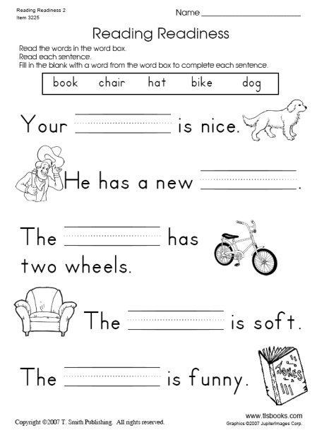 Printable Worksheets For Kindergarten Reading Worksheets For All