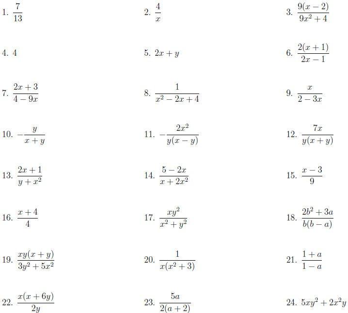 Printables  Algebraic Fractions Worksheet  Messygracebook