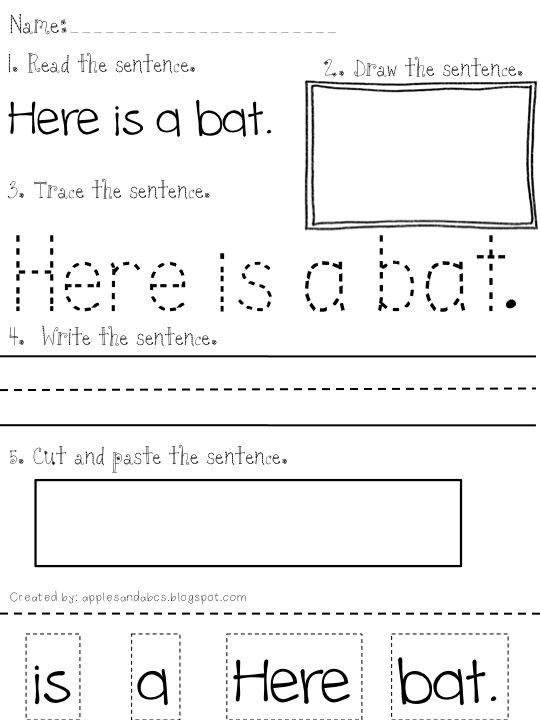 Printables  Building Sentences Worksheets  Messygracebook