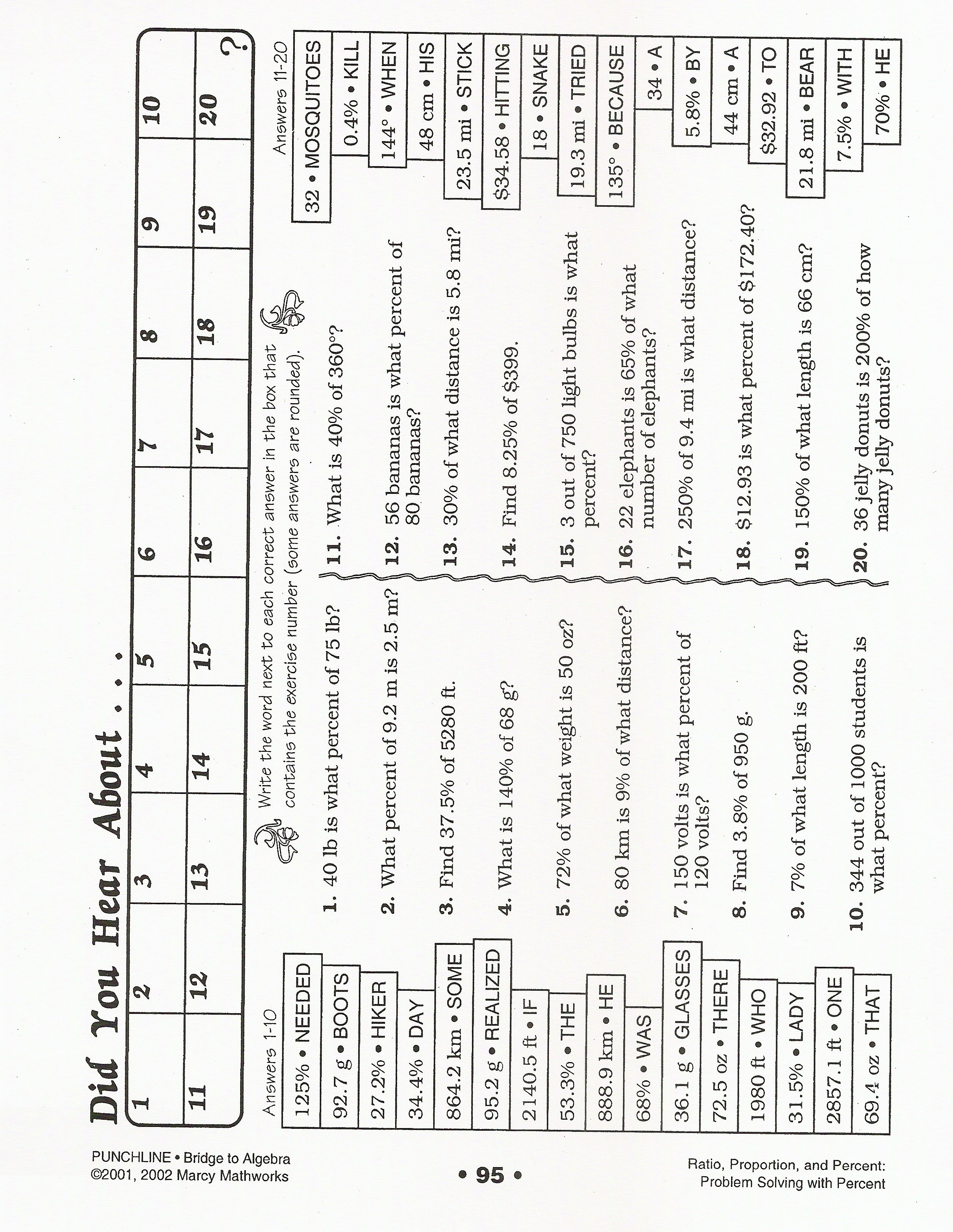 Printables Did You Hear About Math Worksheet ...