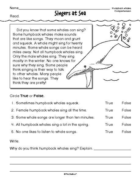 Printables  Free 2nd Grade Reading Comprehension Worksheets