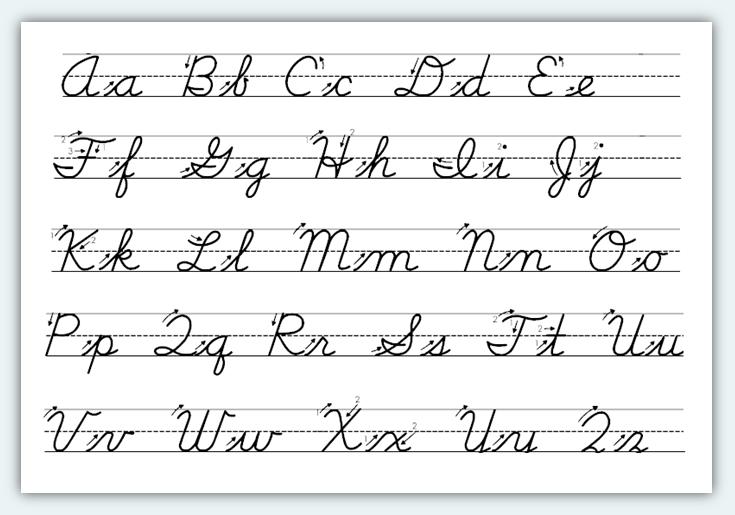 Printables  Script Handwriting Worksheets  Messygracebook