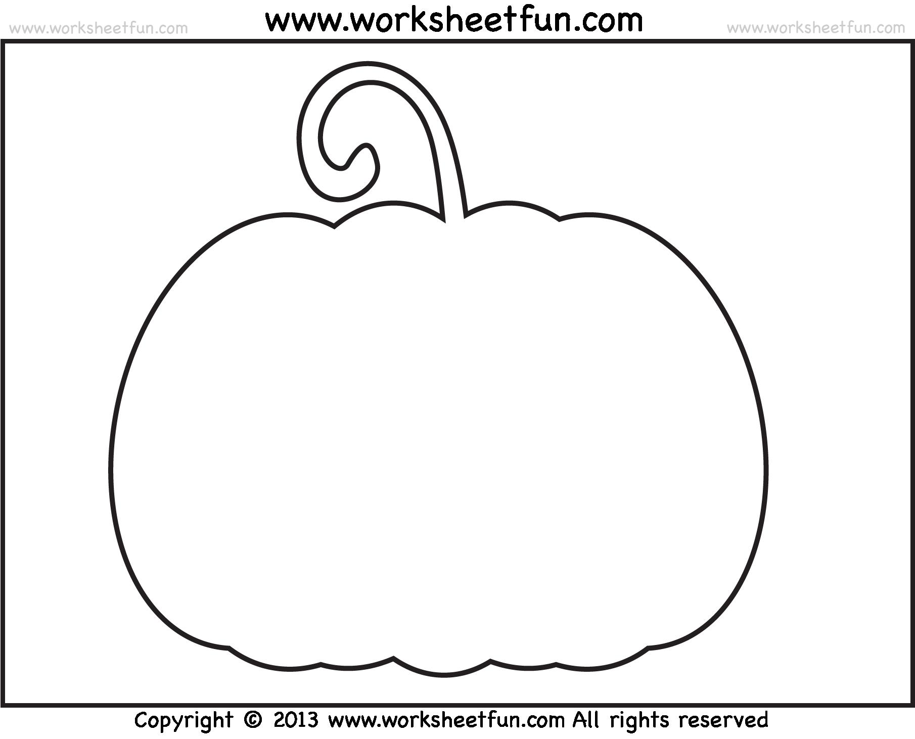 Pumpkin Worksheets For Kindergarten Worksheets For All
