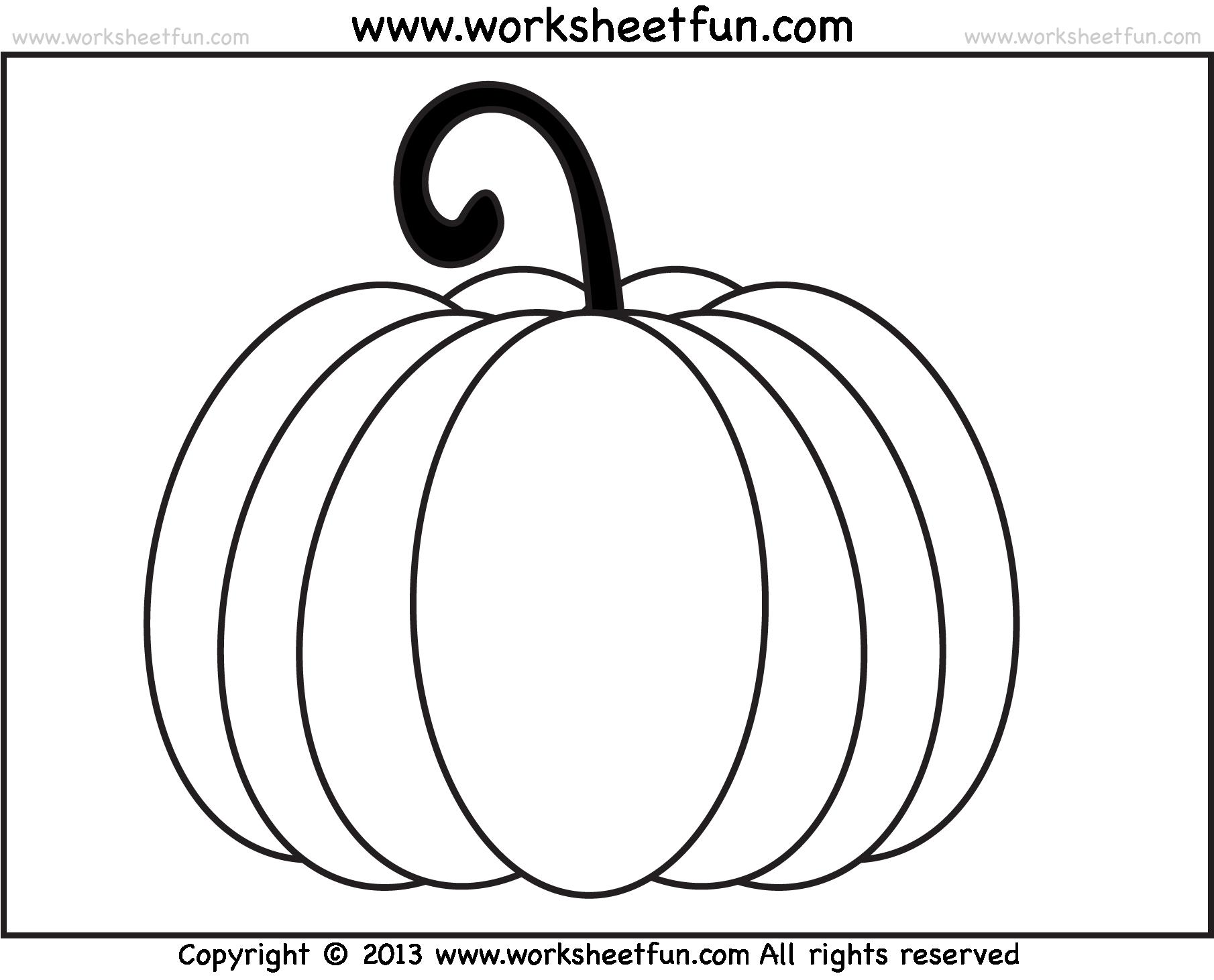 Pumpkin Worksheets Worksheets For All