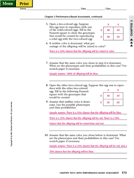Punnett Square Practice Worksheet With Answers Worksheets For All