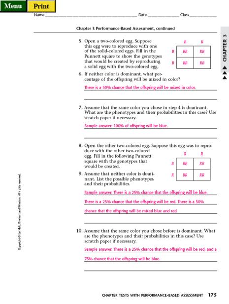 Chapter 6 Dihybrid Cross Worksheet Answer Key - Sewdarncute