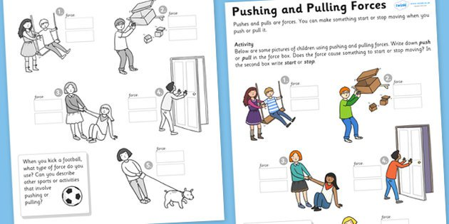 Push Pull Worksheet Worksheets For All