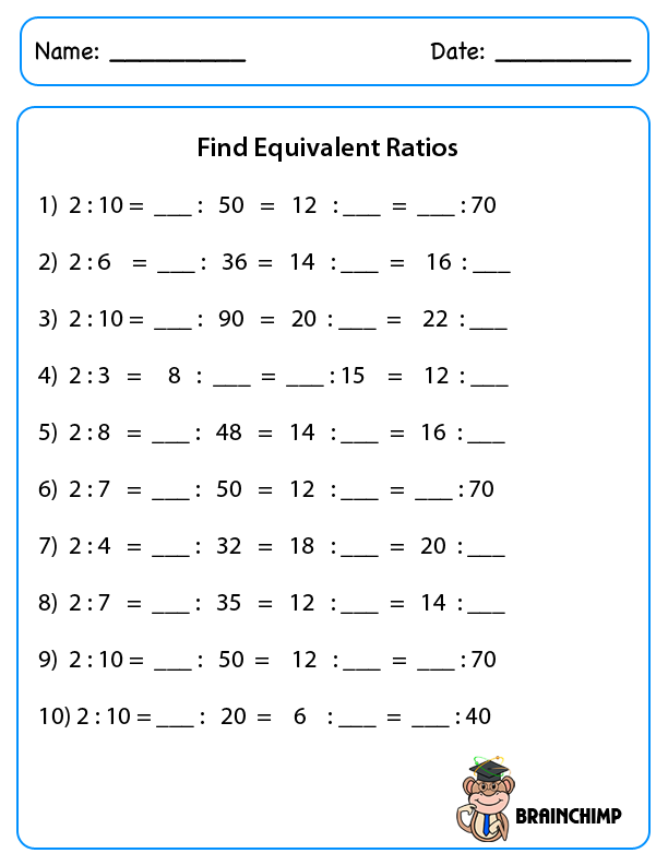 Ratio Worksheets Grade 8 The Best Worksheets Image Collection