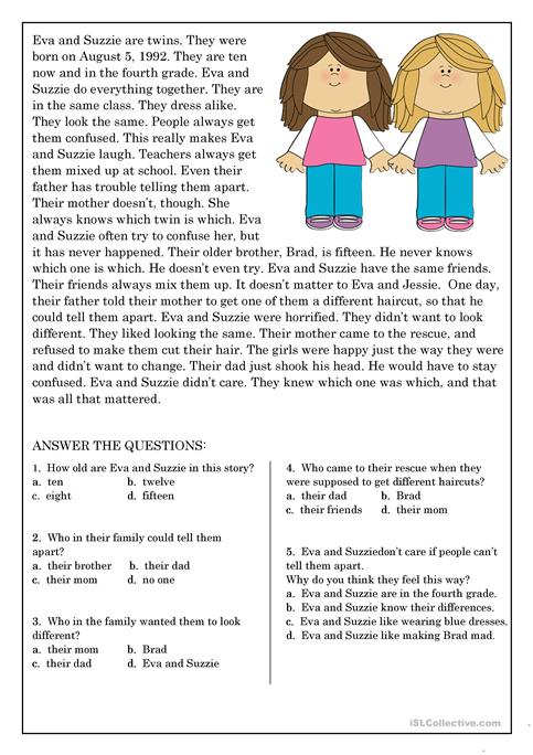 Reading Comprehension For Beginner And Elementary Students 9