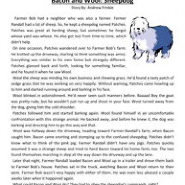 Reading Comprehension Worksheets For Third Grade Worksheets For