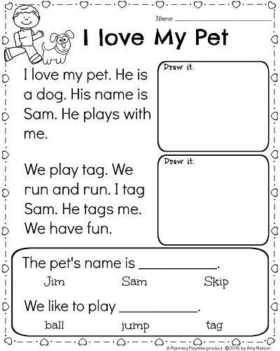 Reading For Kindergarten Worksheets Worksheets For All