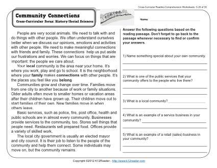Reading Worksheets For 3rd Grade Reading Sheets Worksheets For All