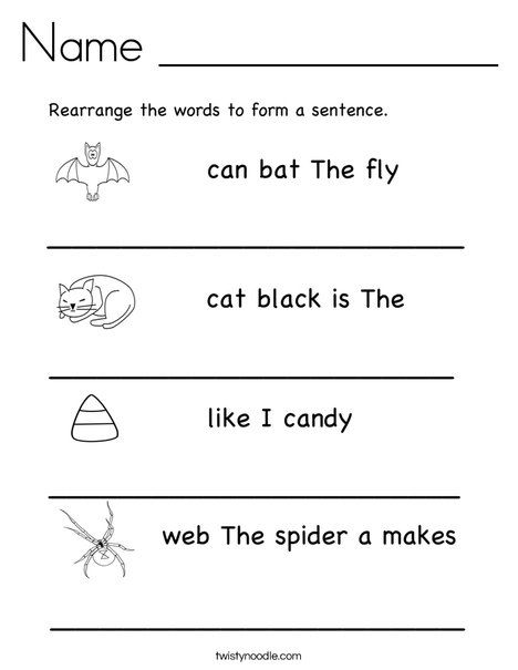 Rearrange The Words To Make A Sentence