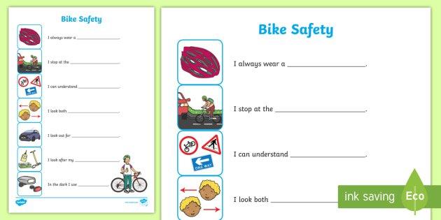 Road Safety Worksheets