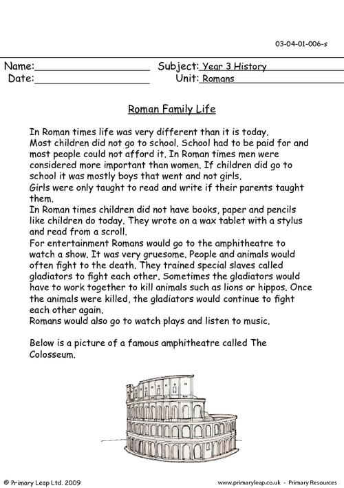 Roman Family Life