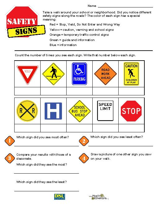 Safety Signs Worksheets Safety Signs Teacherlingo Ideas