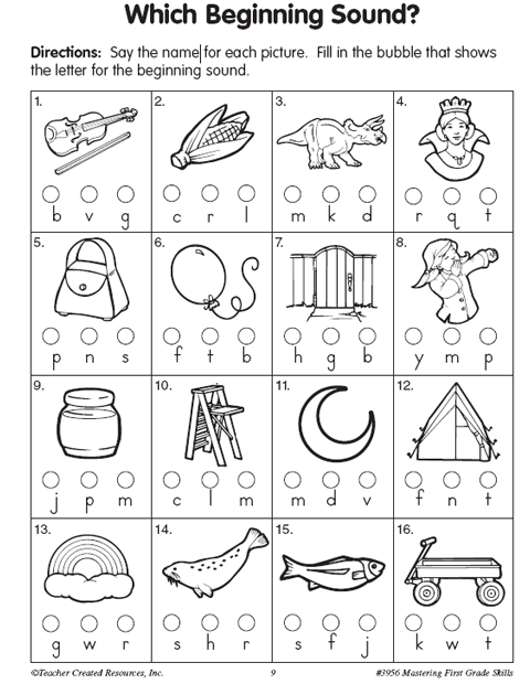 Same Beginning Sounds Worksheets Worksheets For All