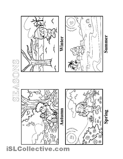 Season Worksheets For Preschool Worksheets For All