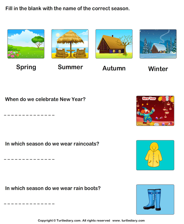 Seasons And Weather Worksheet Worksheets For All
