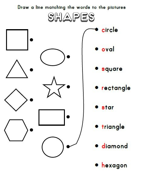teaching shapes worksheets. Black Bedroom Furniture Sets. Home Design Ideas