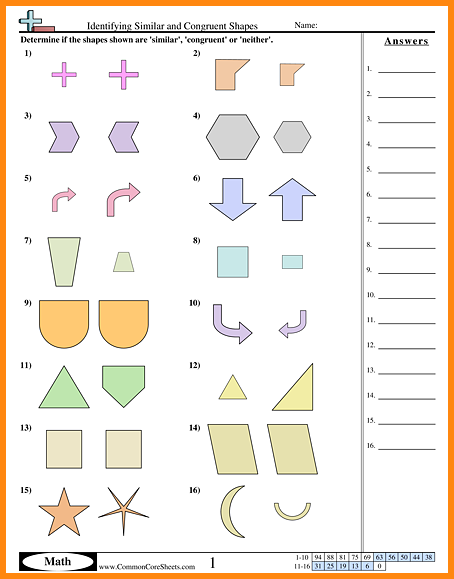 Similar And Congruent Figures Worksheets Worksheets For All