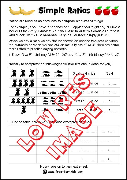 Simple Ratios Worksheets (with Answers) For Maths Lessons
