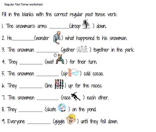 Simple Verb Worksheets For Grade 1