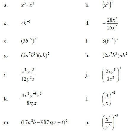 Simplify Expressions With Exponents Worksheets Worksheets For All