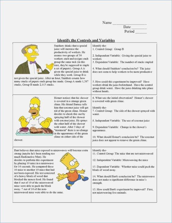 Simpsons Scientific Method Worksheet Answers – Webmart Me