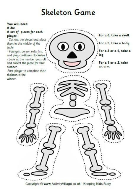 Skeleton Worksheets For Kindergarten Worksheets For All