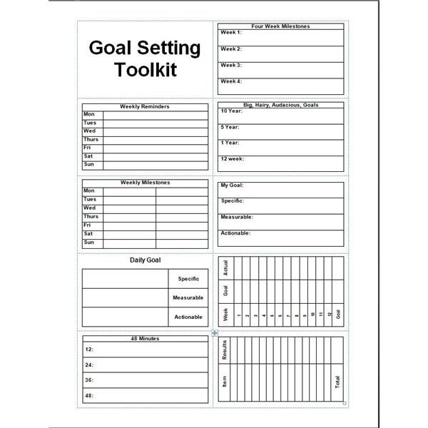Smart Goals Template  Daily Planner Template Printable Free Goal