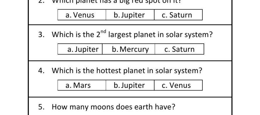 Solar System Worksheet For Kids Worksheets For All