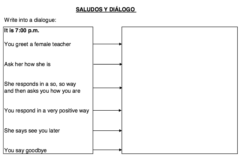 Spanish Worksheets Greetings Worksheets For All